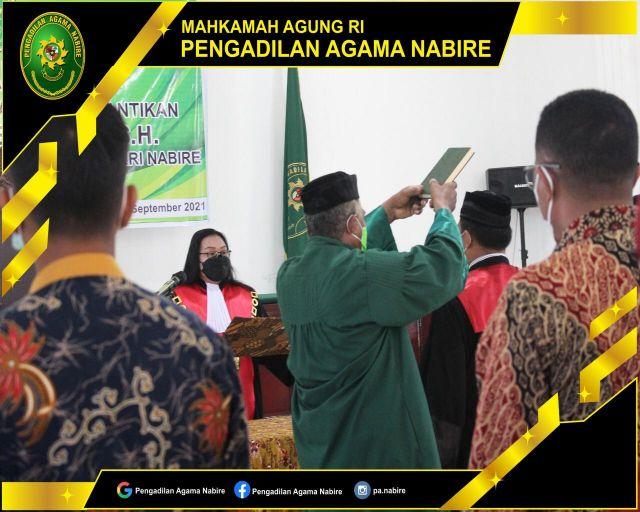 Pelantikan Wakil Ketua Pegadilan Negeri Nabire 09-09-2021