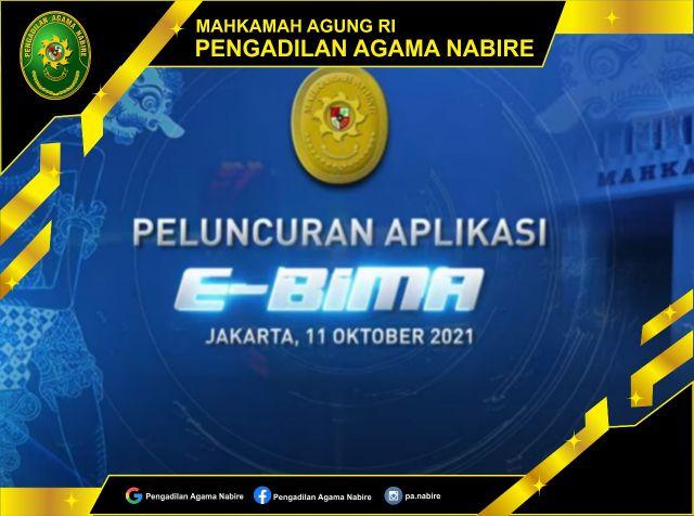 Launching Aplikasi e-BIMA, 11-10-2021