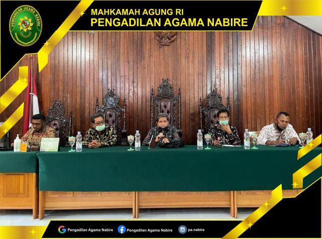 Pembinaan oleh Yang Mulia Wakil Ketua Pengadilan Tinggi Agama Jayapura, 24-09-2021