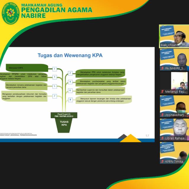 Penyegaran refreshment PPSPM Satuan Kerja dalam rangka Penilaian Kompetensi bagi PPK dan PPSPM