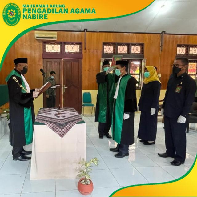 Pelantikan Wakil Ketua Pengadilan Agama Nabire